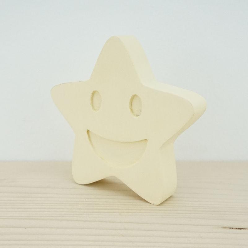 Estrella madera pintada
