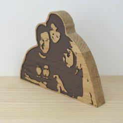 Retrato en madera