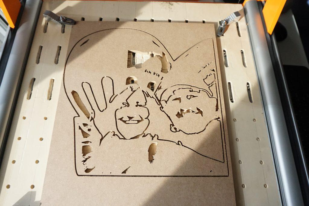Retrato madera - corte CNC