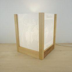 Lampara 3D madera lateral